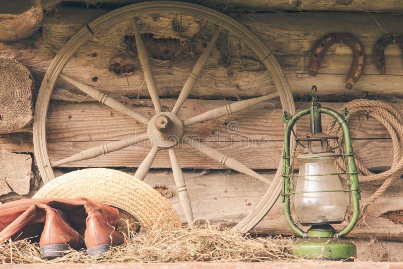 Aún vida retra rural foto de archivo