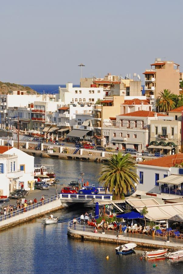 ażio Crete Greece wyspa Nikolaos zdjęcia royalty free
