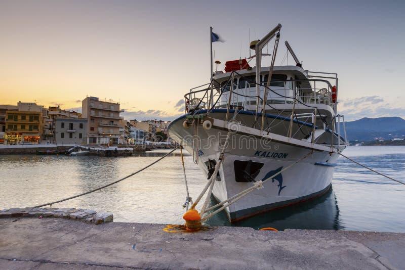 ażio Crete Nikolaos zdjęcia royalty free