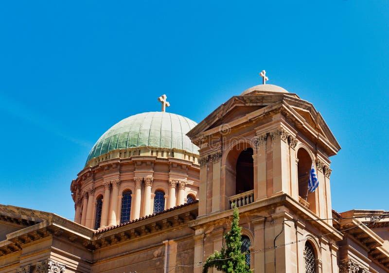 Ażio Dionysios Areopagitis Greckokatolicki kościół, Ateny, Grecja zdjęcie stock