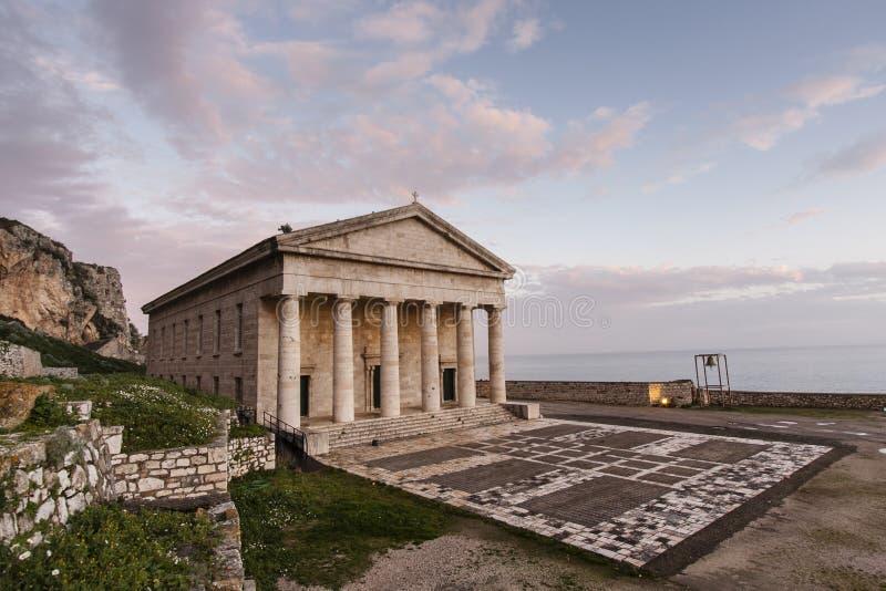 Ażio Georgios - Stary Forteca (St. George) zdjęcie stock