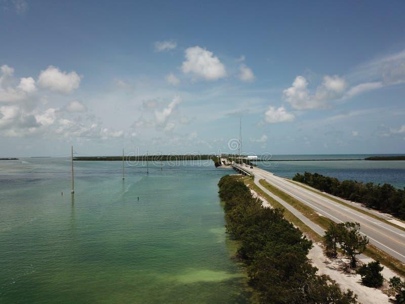 A1A佛罗里达钥匙 免版税库存照片