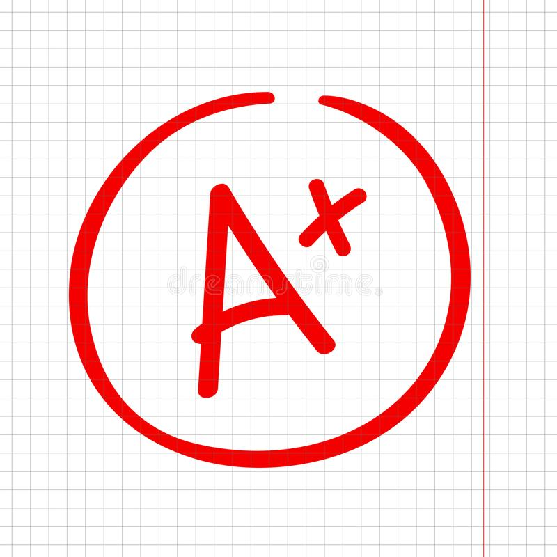 A加上等级标记 最佳的结果标志 做的优秀 皇族释放例证