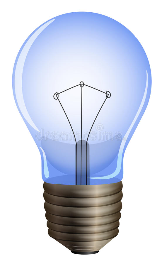 Free A Blue Light Bulb Royalty Free Stock Image - 39381846
