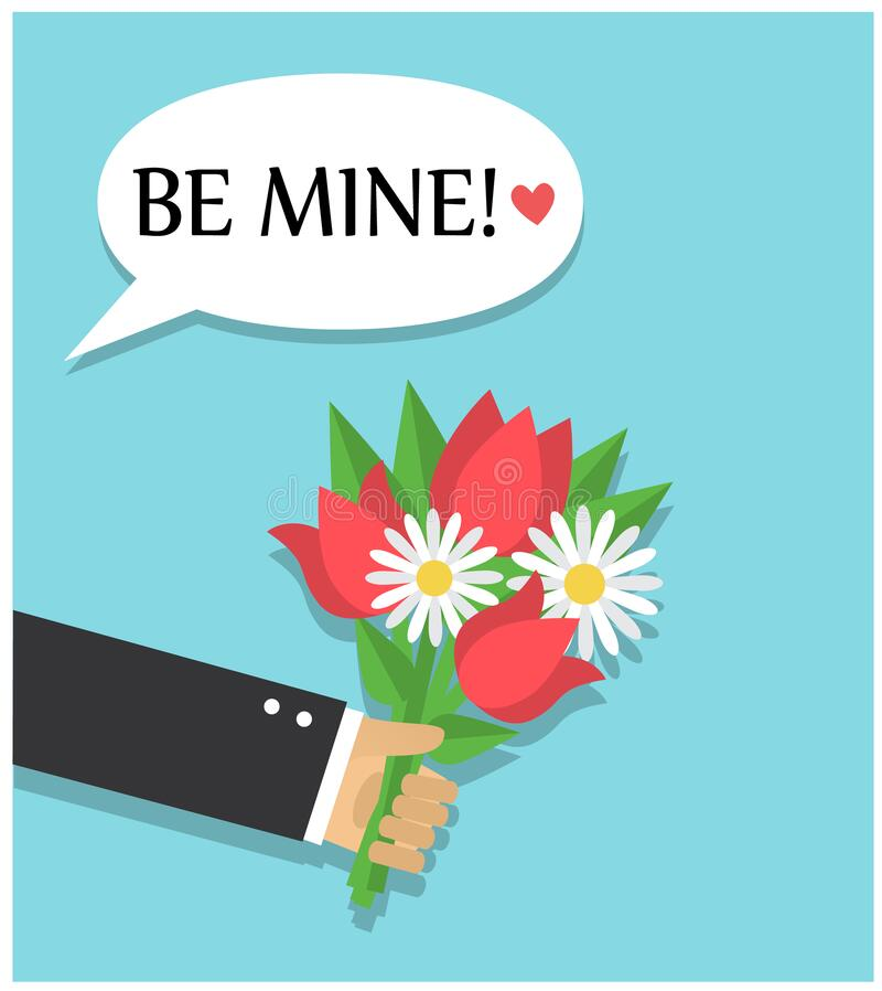 Free A Bouquet Of Flowers As A Gift And A Declaration Of Love Stock Photo - 169802120