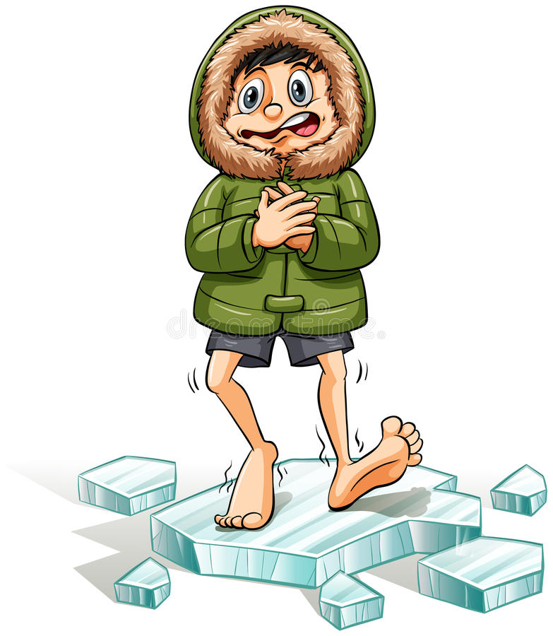 Free A Boy Getting A Cold Feet Royalty Free Stock Photo - 49906925