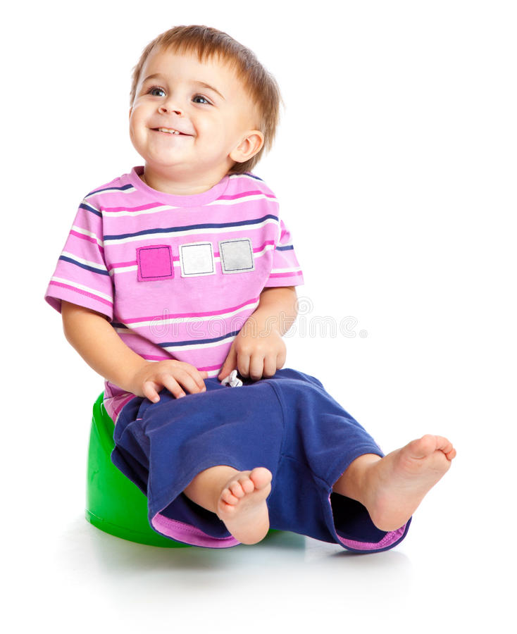 Free A Boy Sitting On The Pot Royalty Free Stock Images - 19301129