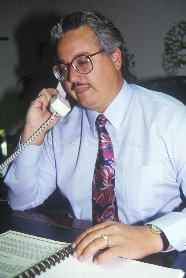 Free A Business Man On The Telephone, Royalty Free Stock Photography - 52261197