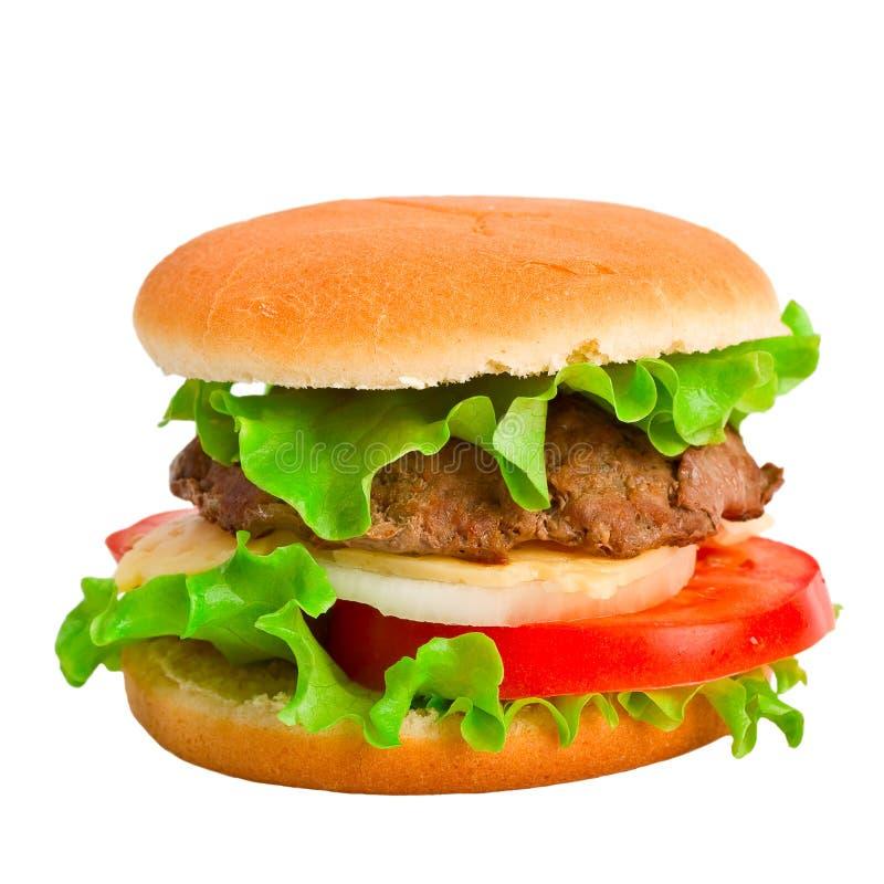 Free A Classic Hamburger Isolated On White Stock Photos - 7620963