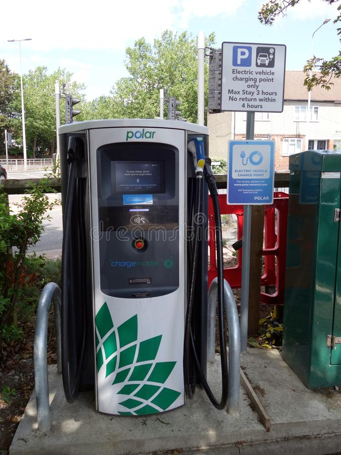 Free A Close Up Of The Charging Bowser At An  Electric Vehicle Charging Point Stock Images - 156397574