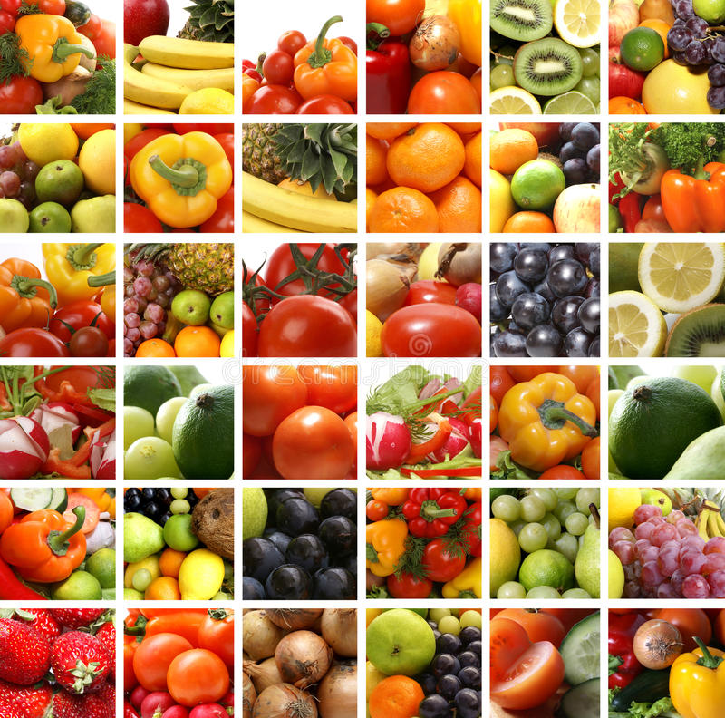 Free A Collage Of Nutrition Images With Fresh Fruits Stock Photography - 14884822