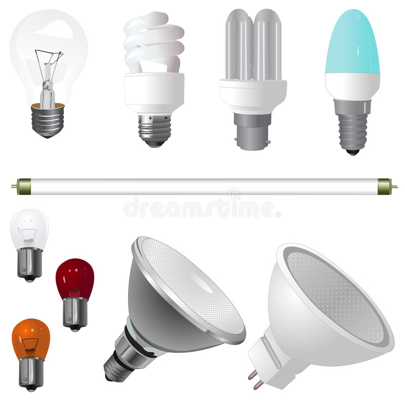 Free A Collection Of Light Bulbs Stock Photography - 9033312