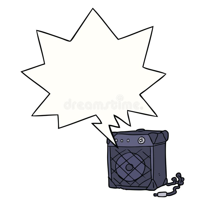 Free A Creative Cartoon Electric Guitar Amp And Speech Bubble Stock Photography - 151531892