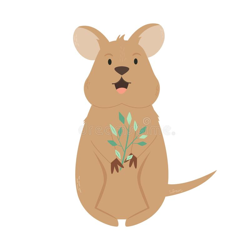 Free A Cute Australian Quokka. Animal Character Design Royalty Free Stock Photos - 172554468