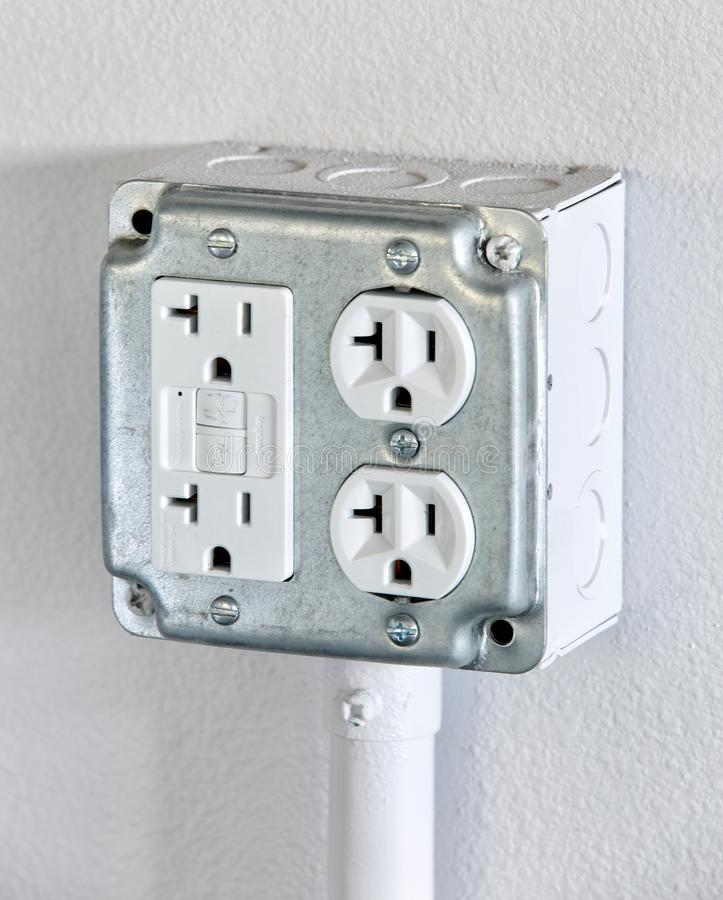 Free A Four Plex Electrical Outlet. Royalty Free Stock Image - 162319116