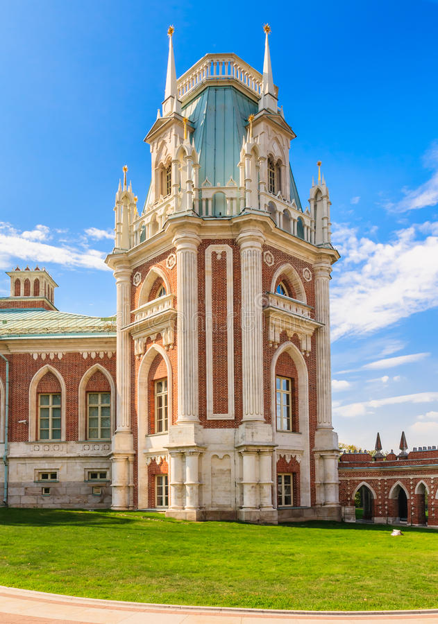 Free A Fragment Of The Grand Palace Architecture. Museum-Reserve Tsaritsyno Royalty Free Stock Photos - 70148078