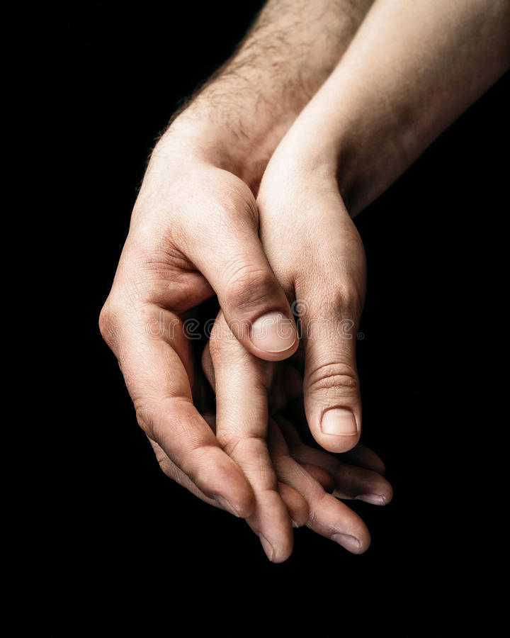 Free A Gentle Touch Of Two Hands. Stock Photography - 89777212