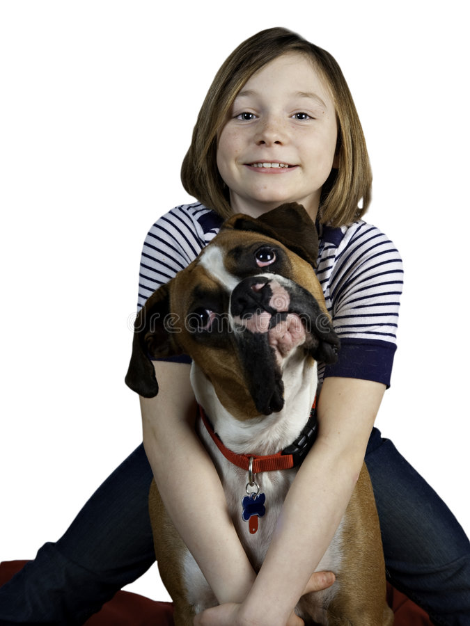 Free A Girl And Her Dog Stock Photography - 8522062