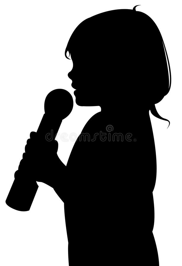 Free A Girl Speaking With Microphone Royalty Free Stock Photo - 74440915
