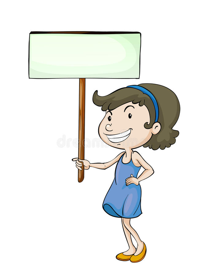 Free A Girl With Sign Board Stock Photo - 26629870