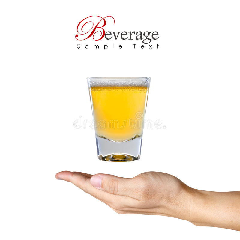 Free A Glass Of Beer Over The Human Hand Stock Photos - 16889003