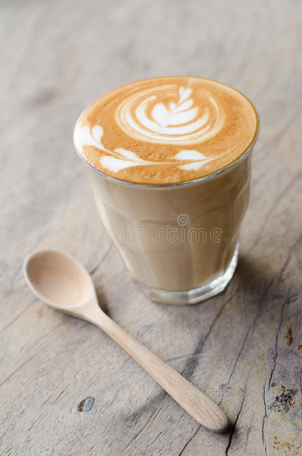 Free A Glass Of Hot Latte Art Coffee Royalty Free Stock Photography - 52678647