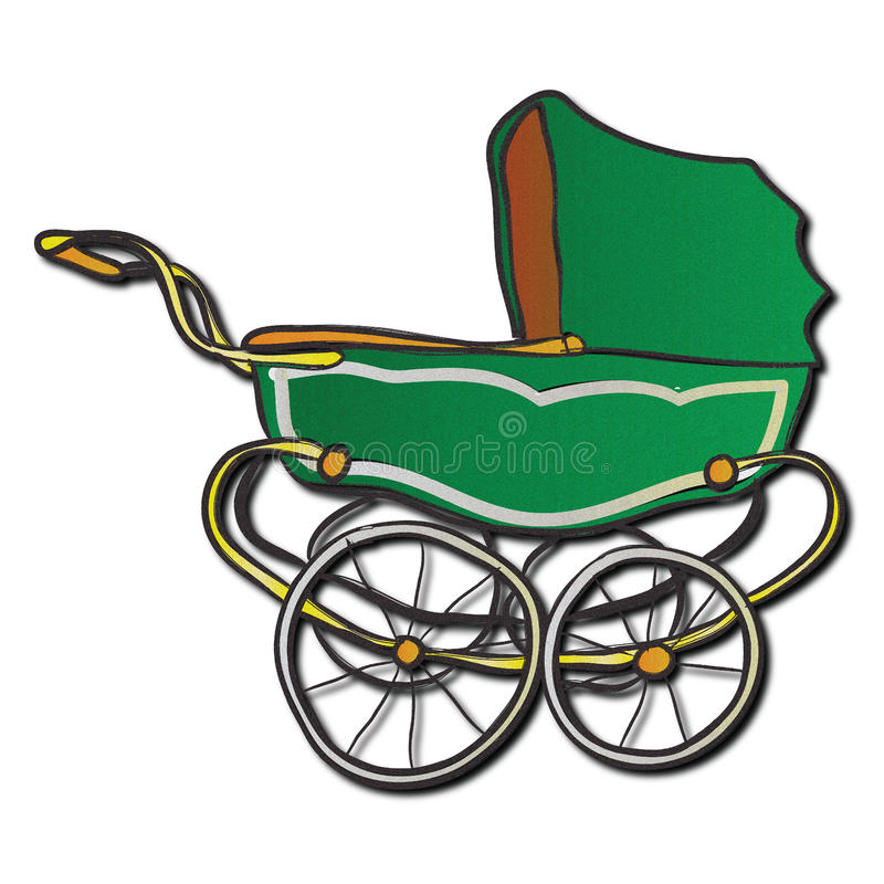 Free A Green, Vintage Pram Stock Photos - 50104313