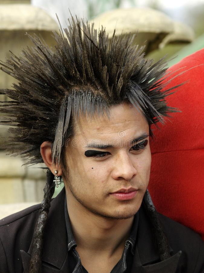 Free A Guy With Spiked Hair Royalty Free Stock Image - 110039156
