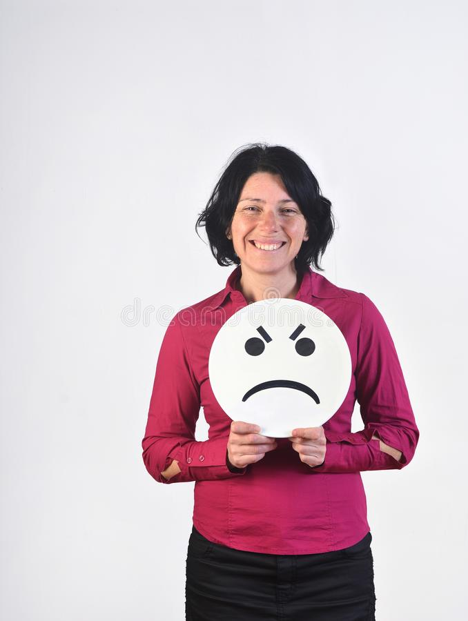 Free A Happy Woman Holding A Plate Royalty Free Stock Photography - 114647717