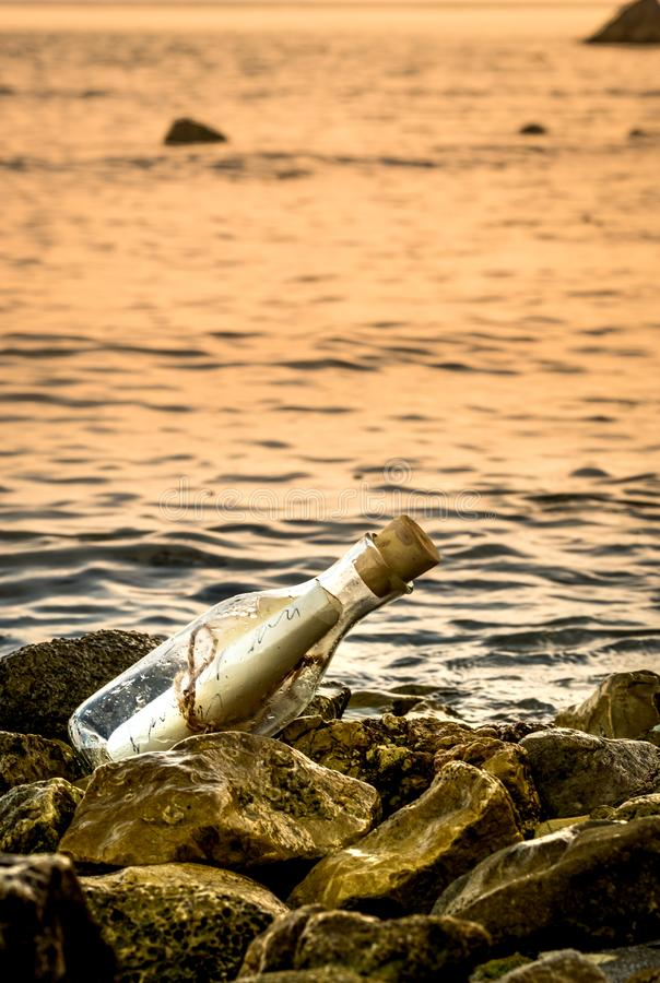 Free A Letter From A Bottle Stock Image - 119048381