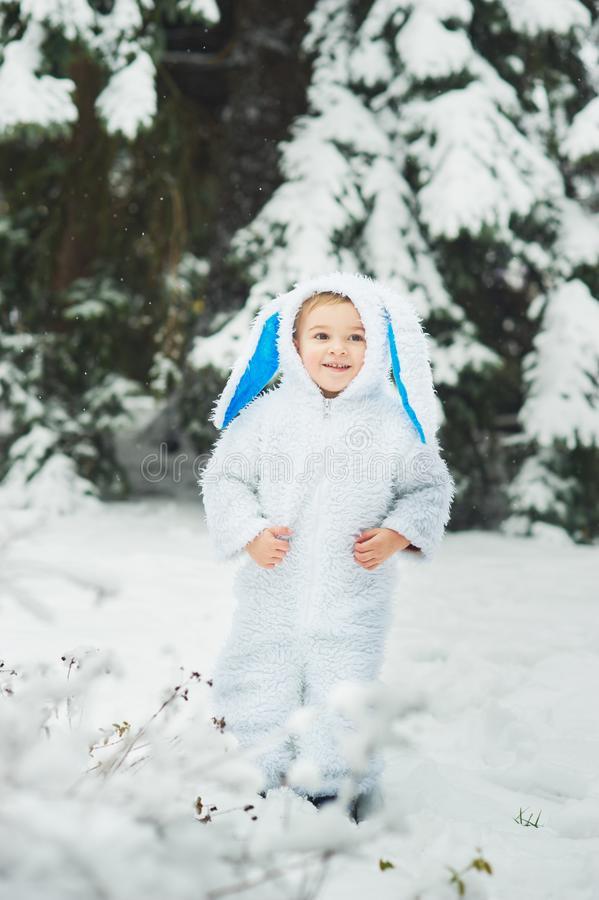 Free A Little Boy Dressed As Rabbit Meets New Year Royalty Free Stock Photo - 128453035