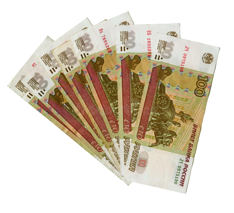 Free A Lot Of 100 Russian Roubles Bank Notes. Stock Photography - 12988722