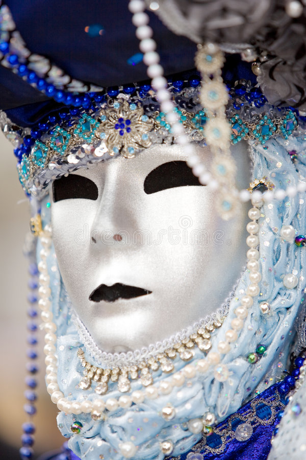 Free A Man In Costume At The Venice Carnival Stock Photo - 6566280
