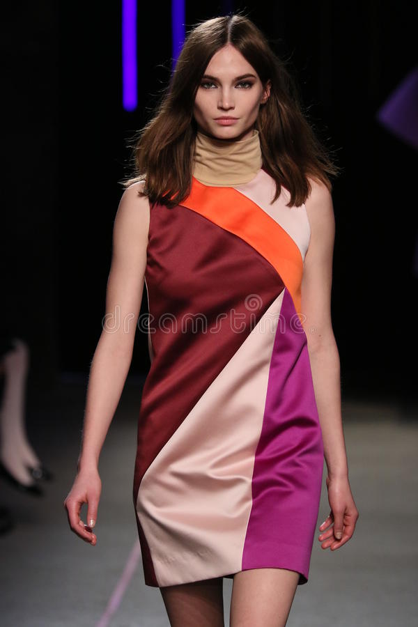 Free A Model Walks At The Milly By Michelle Smith Show During MBFW Fall 2015 Stock Photos - 51386933