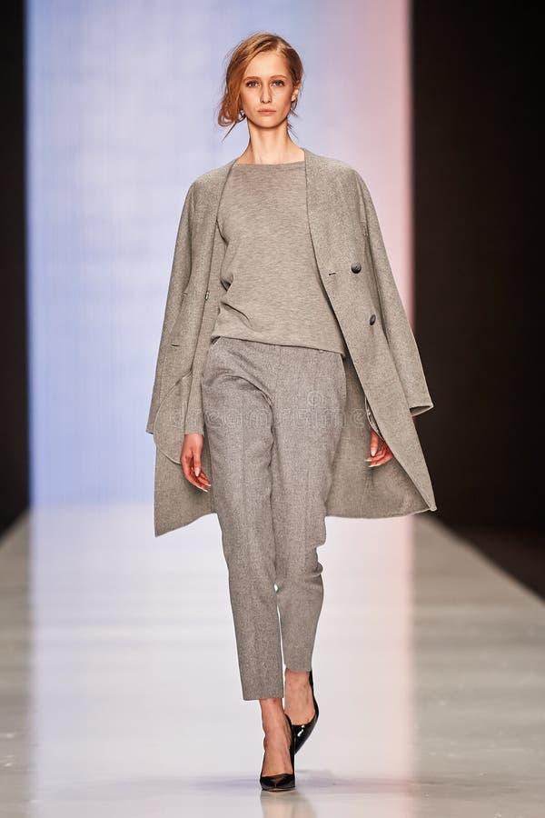 Free A Model Walks On The BGN – Aleksandr Rogov Catwalk Royalty Free Stock Photo - 52848625