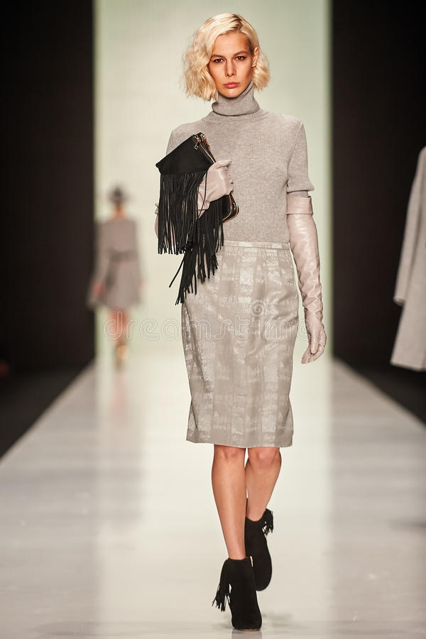 Free A Model Walks On The BGN – Aleksandr Rogov Catwalk Stock Photography - 52848672