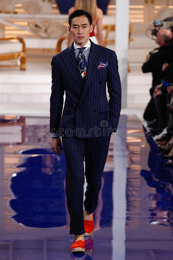 Free A Model Walks The Runway At Ralph Lauren Spring/Summer 18 Fashion Show Royalty Free Stock Photo - 125030575