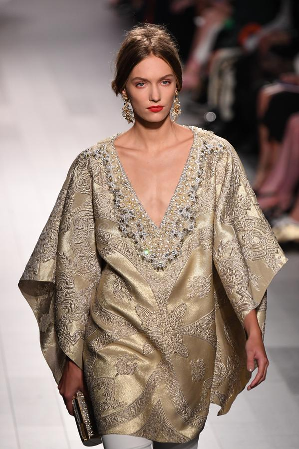 Free A Model Walks The Runway At The Badgley Mischka Fashion Show Stock Photos - 101349373