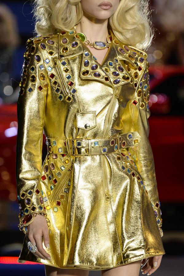 Free A Model Walks The Runway At The Moschino Show At Milan Fashion Week Autumn/Winter 2019/20 Royalty Free Stock Photo - 143951095
