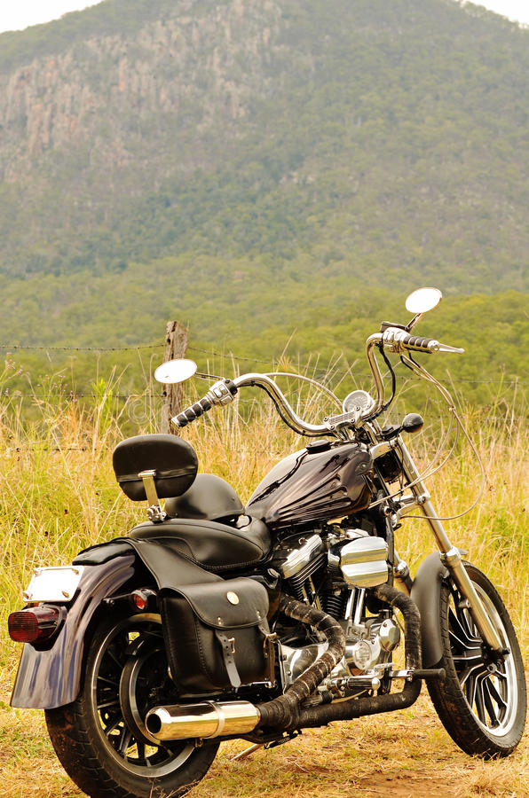Free A Motorbike On A Road Trip Summer Holiday Touring Outback Australia Royalty Free Stock Photos - 75979208