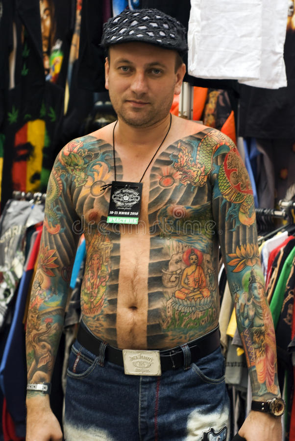 Free A Participant Of St.Petersburg Tattoo Festival Royalty Free Stock Images - 14827669