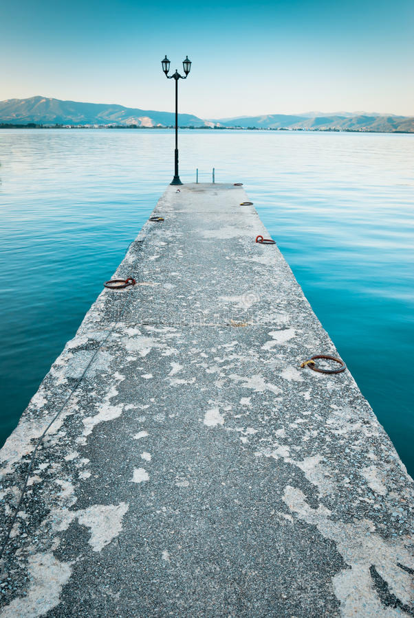 Free A Pier By The Lake Ohrid, Macedonia Royalty Free Stock Photos - 48938768