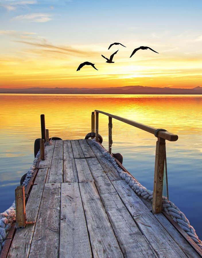 Free A Pier On The Lake Stock Photo - 36993330