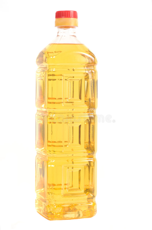 Free A Plastic Bottle With Sunflower Oil Stock Photography - 6084422