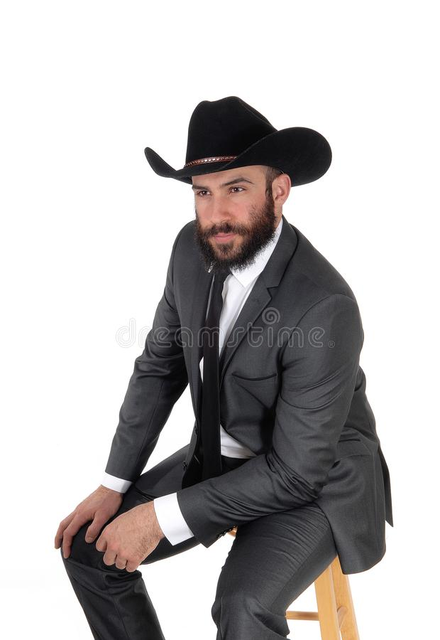 Free A Portrait Image Of A Man In A Suit And Cowboy Hat Royalty Free Stock Photo - 119034835
