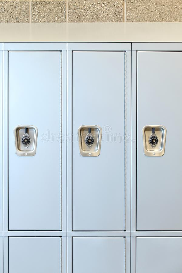 Free A Row Of Lockers In A High School. Royalty Free Stock Image - 162343846