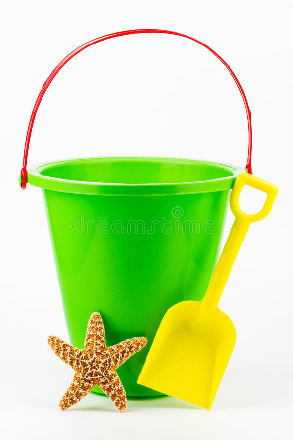 Free A Sand Bucket, Shovel, And Starfish. Stock Photos - 26830843