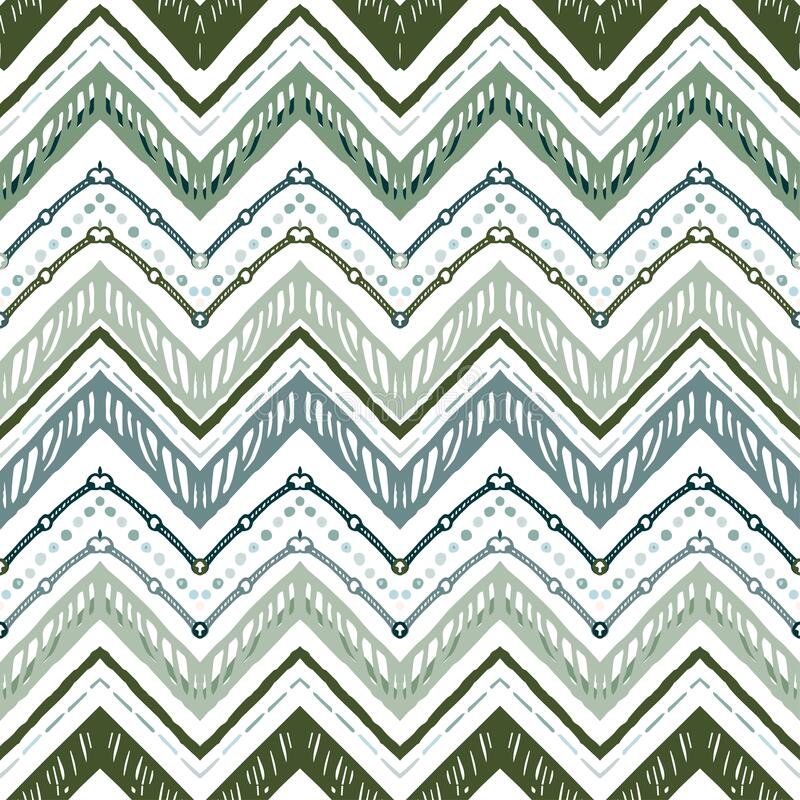 Free A Seamless Ethnic Zigzag Chevron Vector Pattern Royalty Free Stock Images - 191334249