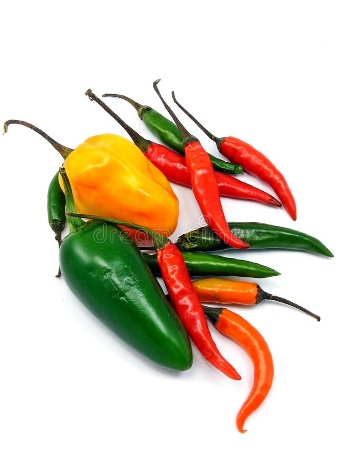 Free A Selection Of Mixed Chillies Stock Photography - 18684442