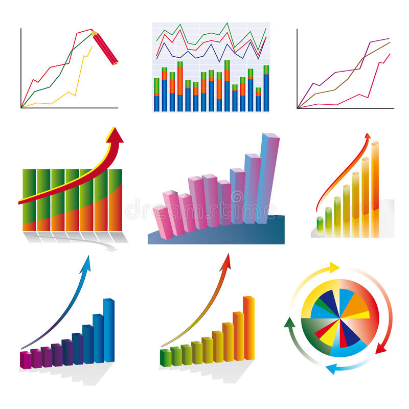 Free A Set Of Business Charts Royalty Free Stock Photography - 17265947